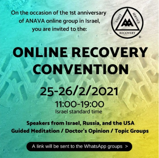 """""""Online recovery"""" Convention schedule"""